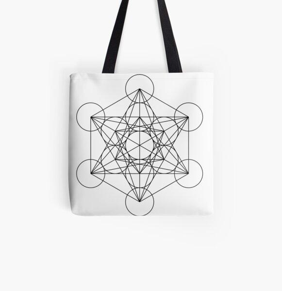Metatron's Cube   Sacred Geometry All Over Print Tote Bag