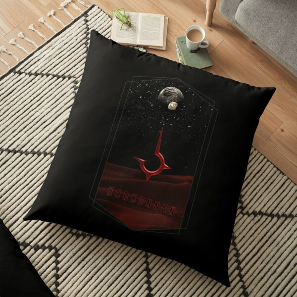 Harkonnen Logo over Dune  Floor Pillow