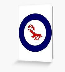 Fantail Air Force Roundel Greeting Card