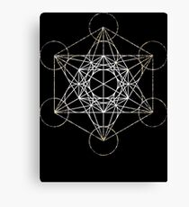 Metatron's Cube [Tight Cluster Galaxy] | Sacred Geometry Canvas Print