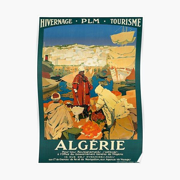 Algeria Vintage Travel Poster Restored Poster