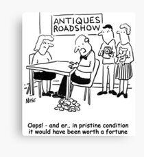Oops - Antiques Roadshow expert drops an item Canvas Print