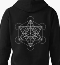 Metatron's Cube + Star of David   Sacred Geometry Pullover Hoodie