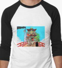Spirited Away Drawing Men's Baseball ¾ T-Shirt