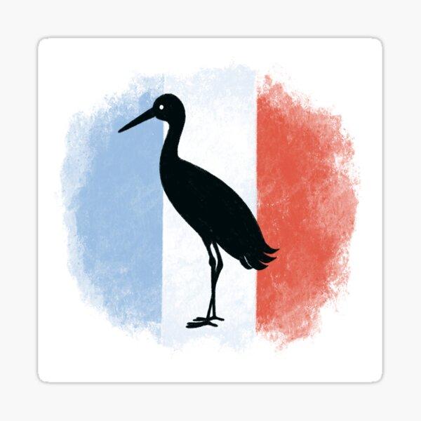 Alsace stork French flag Sticker