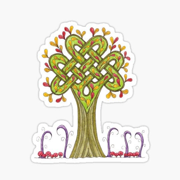 Whimsical Celtic Tree Sticker