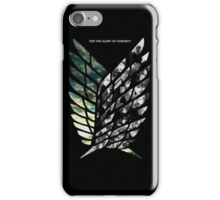 for the glory of humanity attack on titan  iPhone Case/Skin