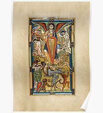 Saint Michael Battling the Dragon (1170 AD) Poster