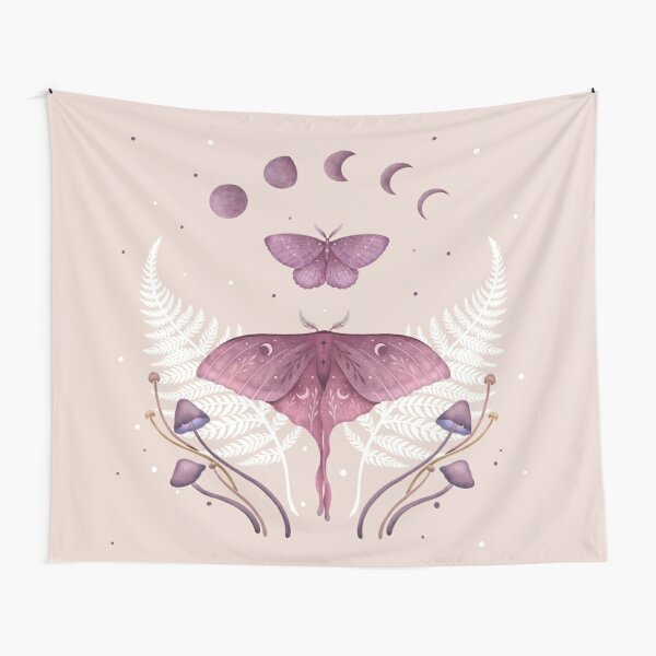 Luna and Emerald - Vintage Pink Tapestry