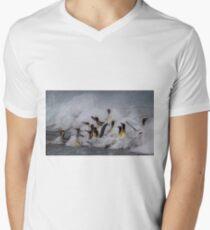 King Penguin Arrival Mens V-Neck T-Shirt