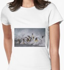 King Penguin Arrival Women's Fitted T-Shirt