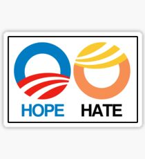 Hope vs. Hate Sticker