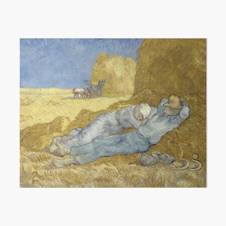 Vincent Van Gogh Painting - The Siesta (after Millet) Art Board Print
