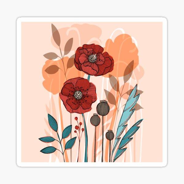 Poppy Fields Sticker