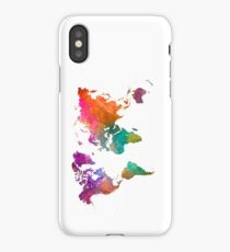 World map in watercolor 25 iPhone Case/Skin