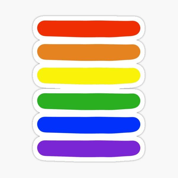 Rainbow Stripes Sticker
