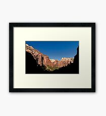 Kayenta Trail Panorama - Zion National Park  Framed Print