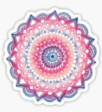 Ocean Sunset Mandala Sticker