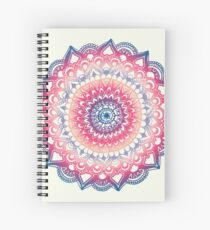 Ocean Sunset Mandala Spiral Notebook