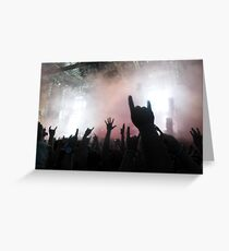 Hands to the Sky - Sonisphere 2014 Greeting Card