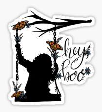 To Kill A Mockingbird, inspired silloette - Hey, Boo. Sticker