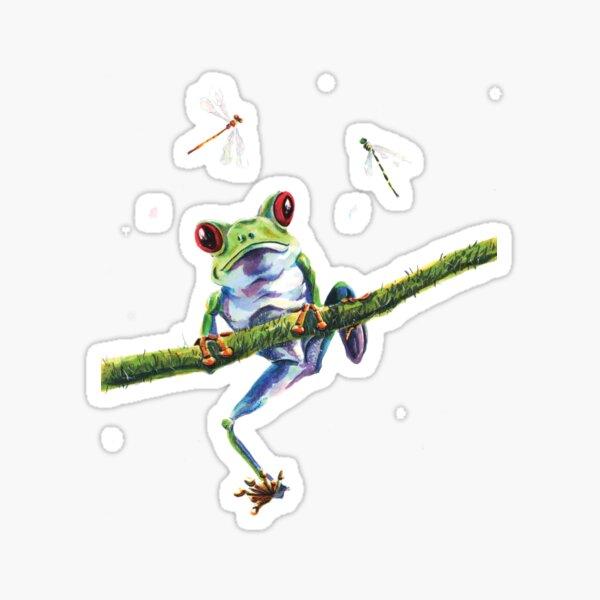 Curious Frog Sticker