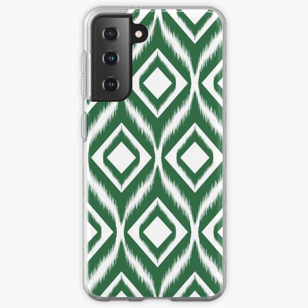 Ikat pattern ethnic tribal textile fabric aztec motif geometric mandalas native boho bohemian carpet African American digital paper  Samsung Galaxy Soft Case