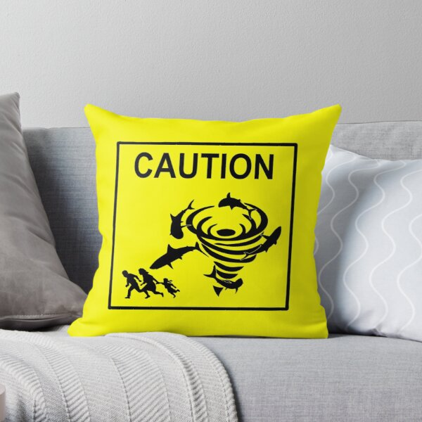 Sharknado Crossing Throw Pillow