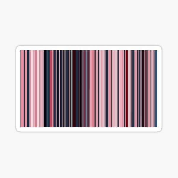 Multi Color Vertical Stripes 12 Sticker