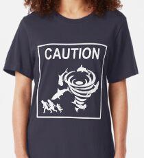 Sharknado Crossing Slim Fit T-Shirt