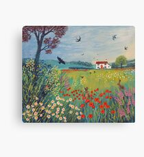 The House by Summer Meadow Canvas Print