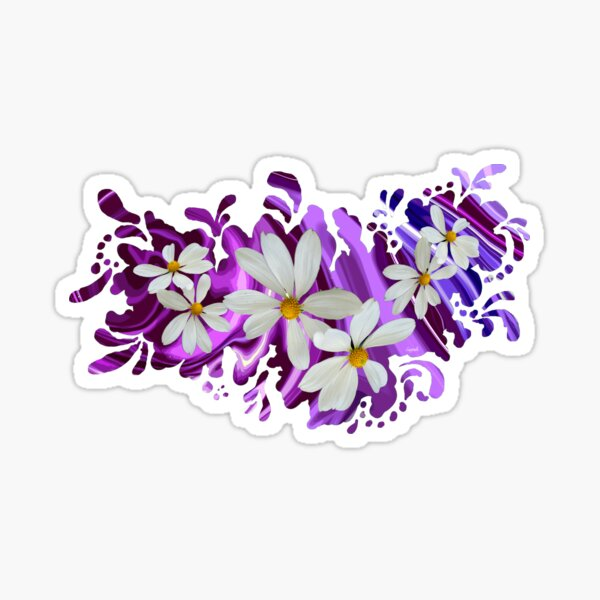Retro Daisy Print Sticker