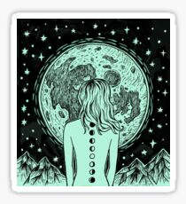 She is the Moon Sticker