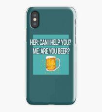 Help Beer iPhone Case/Skin