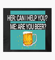 Help Beer Photographic Print