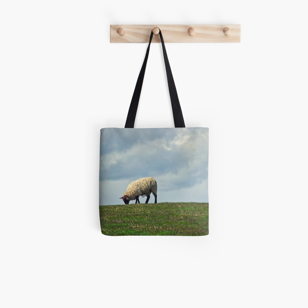 Sheep on the Hill Tote Bag