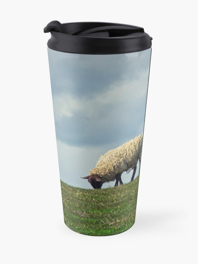 Alternate view of Sheep on the Hill Travel Mug