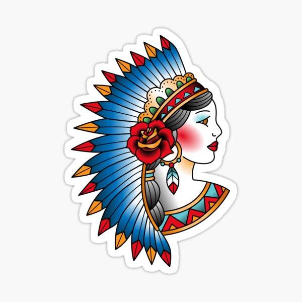 American girl Sticker