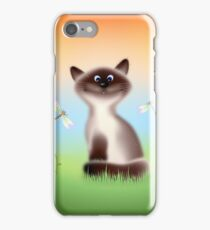 Sly Himalayan Cat & Butterflies iPhone Case/Skin