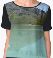 Silvrettasee Reflection  Women's Chiffon Top