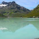 Silvrettasee Reflection  by Rob Schoon