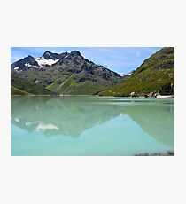 Silvrettasee Reflection  Photographic Print