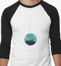 The northern lights watercolor Men's Baseball ¾ T-Shirt