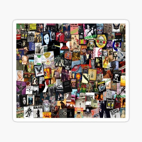 Rock Vinyl Collage Sticker