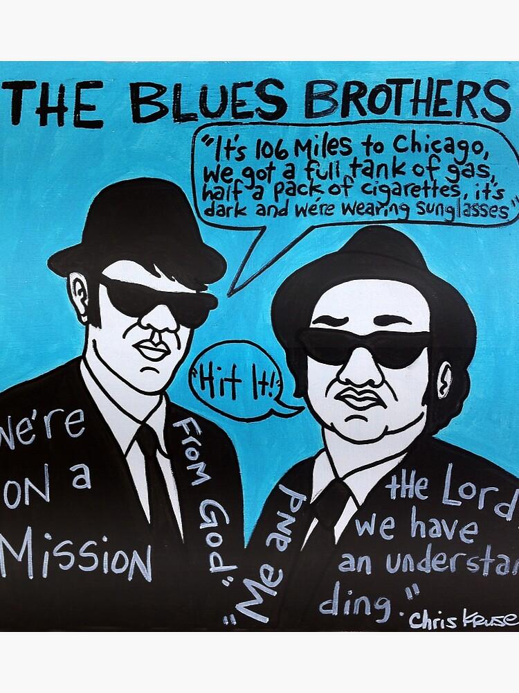 Blues Brothers Blues Folk Art | Poster