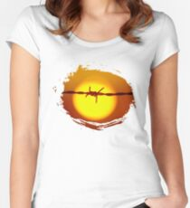 Hot wire Women's Fitted Scoop T-Shirt