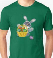 Easter Bunny with Egg Basket Unisex T-Shirt