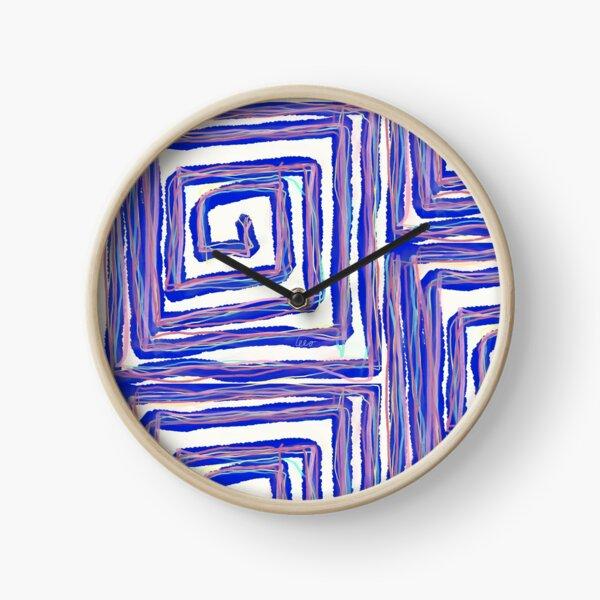 Maze (blue) Clock