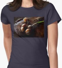 Food - Freshly pulled onions Womens Fitted T-Shirt