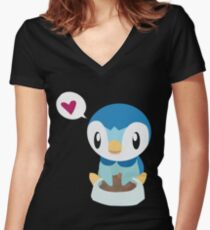 ♥ Women's Fitted V-Neck T-Shirt